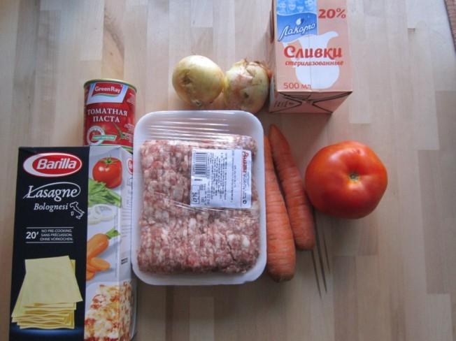 Zutaten Lasagne