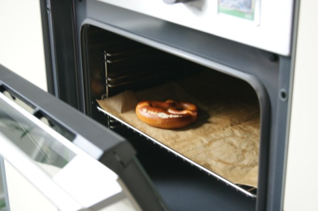 Eine Bretzel im Ofen!